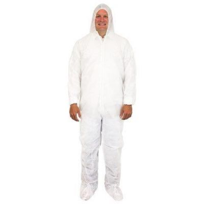 Coverall w/Hood and Boots - Large