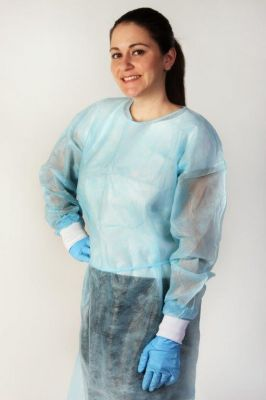 Isolation Gown - Blue Knit Universal