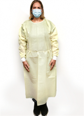 Isolation Gown - Yellow Knit X-Large