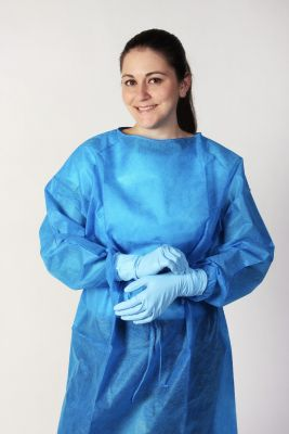 Isolation Gown - Blue Elastic XX-Large