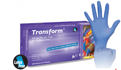 Aurelia Transform Nitrile Blue Exam Gloves - Large, 200/Box