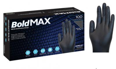 Aurelia BoldMAX Nitrile Black Gloves